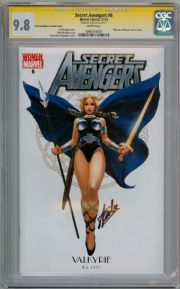 Secret Avengers #6 Valkyrie Variant CGC 9.8 Signature Series Signed Stan Lee Thor Marvel Comic Book